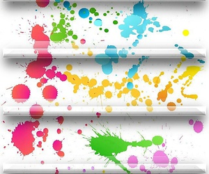 wallpapers, shelf wallpapers, and paint splatter wallpapers image