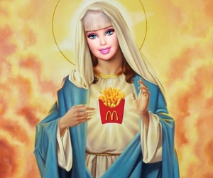 barbie, funny, and McDonalds image