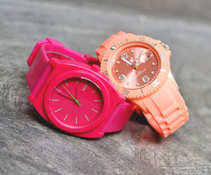 watch, pink, and fashion image