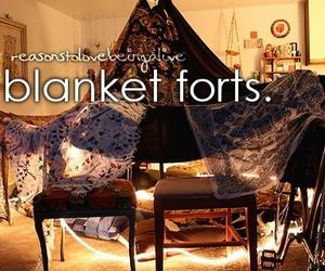 fort, blanket fort, and blanket image