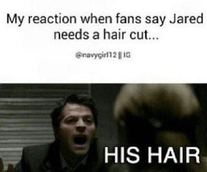 supernatural, hair, and funny image