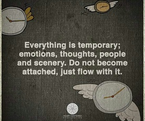 quote, temporary, and don't get attached image