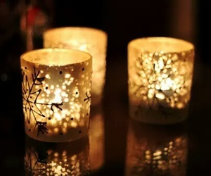 candle, light, and christmas image