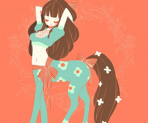 cute, centaur, and girl image