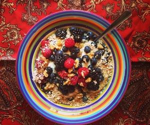 color, healthy, and oatmeal image