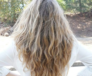 blond, curly, and hair goals image