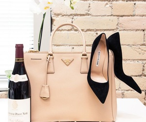 bag, fashion, and wine image