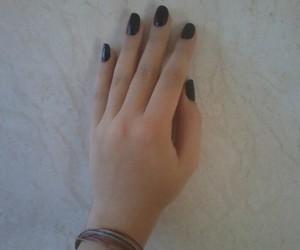 black, dark, and hand image