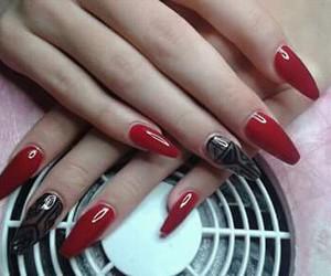 black, long nails, and couple image
