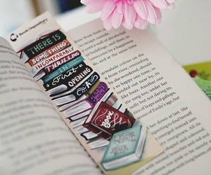 book, flower, and life image