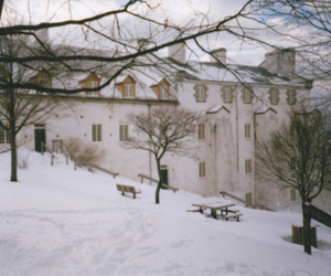 building, winter, and snow image