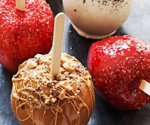 food, apple, and candy image