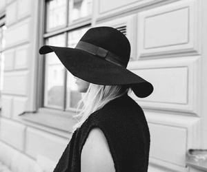 accessory, hat, and black image