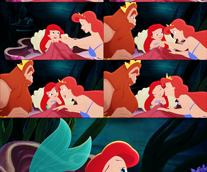 ariel, the little mermaid, and disney family image