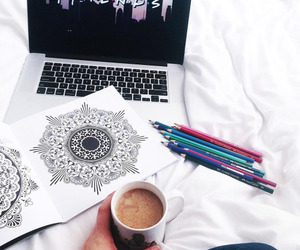 coloring, coloring book, and relaxing image