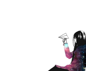 anime and galaxy image