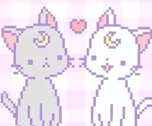 cat, kawaii, and sailor moon image
