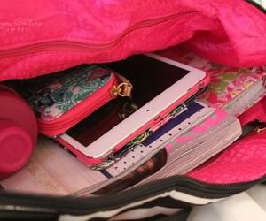 bag, school, and pink image