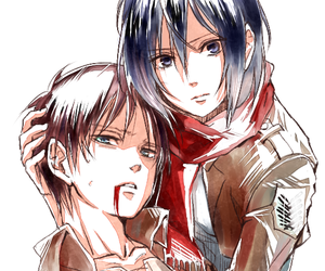 attack on titan, anime, and mikasa ackerman image