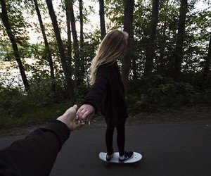 couple, skate, and boy image