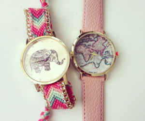 watch, elephant, and map image
