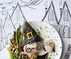 food, harry potter, and art image
