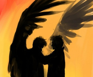 castiel, destiel, and angel image