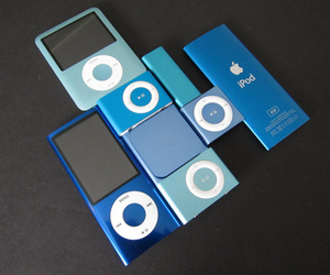 ipod, apple, and blue image