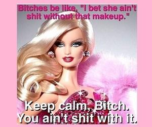 makeup, barbie, and bitch image