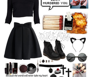 black, fashion, and goth image