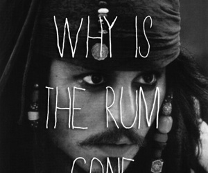 pirate, rum, and jack sparrow image