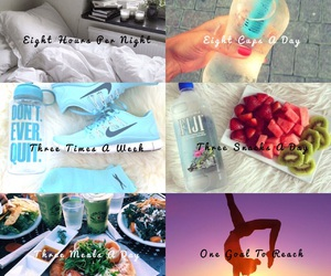 fitness, goals, and healthy image