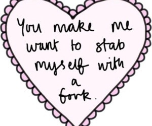 heart, fork, and quotes image