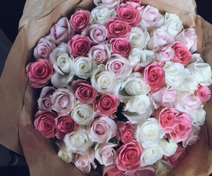 flowers, love, and pink image