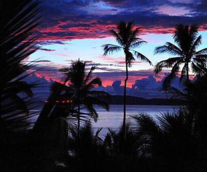 blue, heaven, and sunset image