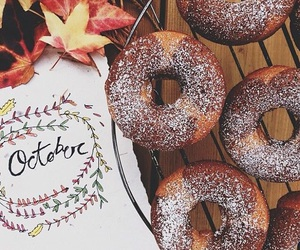 autumn, donuts, and october image