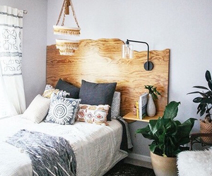 girl, bed, and bedroom image