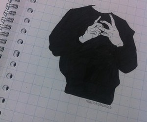 drawing, black, and art image