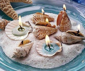 candle and shell image