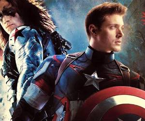 sam winchester, supernatural, and captain america image
