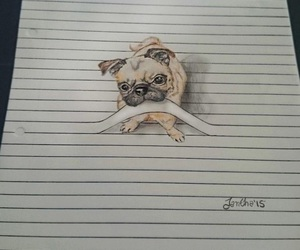 dog, drawing, and cute image