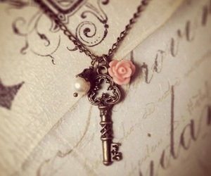 key, vintage, and flower image
