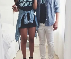 fashion, couple, and outfit image