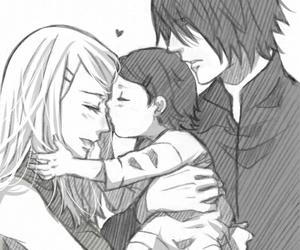sarada, sakura, and sasuke image