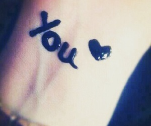 love, you, and tattoo image