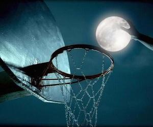 moon, Basketball, and night image