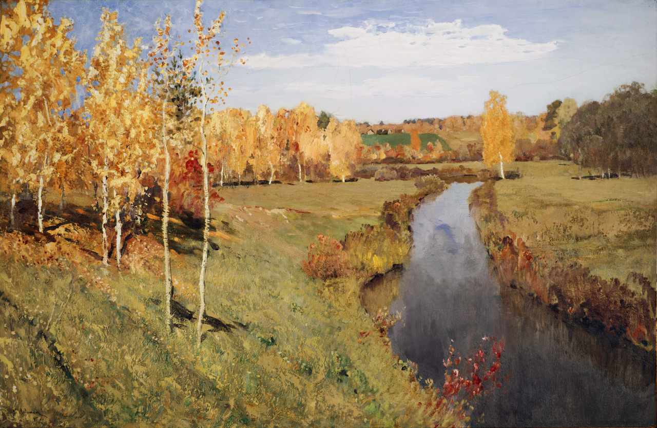 oil, levitan, and golden autumn image