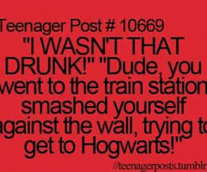 funny, drunk, and hogwarts image