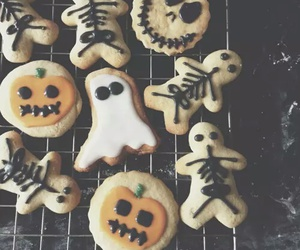 Halloween, Cookies, and pumpkin image