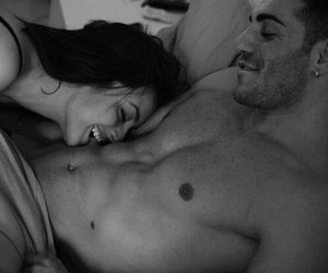 balck and white, couples, and f image